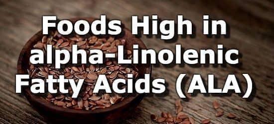 Foods High in Alpha Linolenic Acid (ALA)