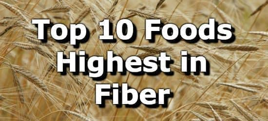 Top 10 High Fiber Foods + Printable One Page Sheet