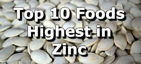 The 10 Best Foods High in Zinc + Printable One Page Sheet